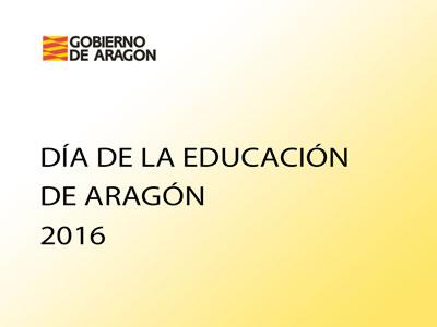 Acto de celebración organizado por el Gobierno de Aragón